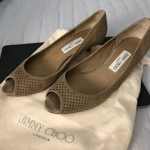 Authentic Jimmy Choo Kitten Heels, 39.5, US 8.5